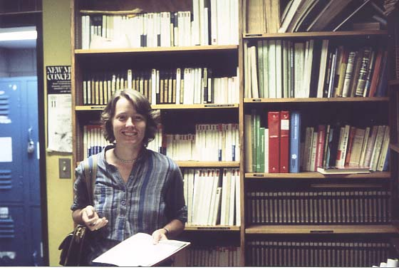 Hildegard Westerkamp with the WSP Tape Library