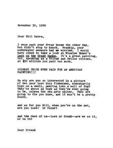 Allen Sekula / Dear Bill Gates(1999)